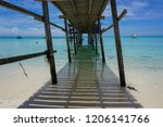 the mantanani islands form a... | Shutterstock . vector #1206141766