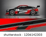 sport car racing wrap livery... | Shutterstock .eps vector #1206142303