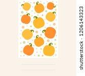vector illustration  postcard...   Shutterstock .eps vector #1206143323