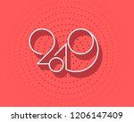 2019 logo new year vector on...   Shutterstock .eps vector #1206147409