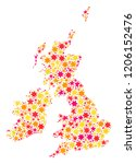 mosaic map of great britain and ...   Shutterstock .eps vector #1206152476