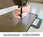 closeup sewing machine needle | Shutterstock . vector #1206154690