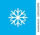 snowflake  vector icon ... | Shutterstock .eps vector #1206161896