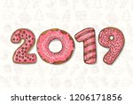 new year background. hand drawn ...   Shutterstock .eps vector #1206171856