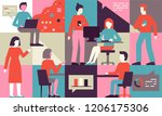 vector illustration in flat... | Shutterstock .eps vector #1206175306