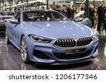 Small photo of PARIS - OCT 2, 2018: BMW 8 Series Coupe sports car showcased at the Paris Motor Show.