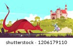 medieval legendary knight... | Shutterstock .eps vector #1206179110