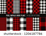 lumberjack buffalo check plaid ... | Shutterstock .eps vector #1206187786