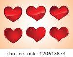 valentines hearts | Shutterstock .eps vector #120618874