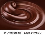 chocolate background. 3d... | Shutterstock .eps vector #1206199510