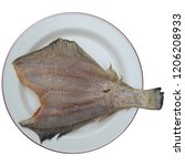dried fish flounder | Shutterstock . vector #1206208933