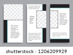 vector editable templates for... | Shutterstock .eps vector #1206209929