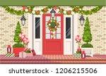 vector illustration. christmas... | Shutterstock .eps vector #1206215506