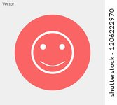 smiley vector icon 10 eps | Shutterstock .eps vector #1206222970