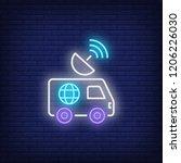 news tv neon sign. glowing neon ... | Shutterstock .eps vector #1206226030