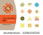 celtic ornament icon set.... | Shutterstock .eps vector #1206233233