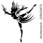 abstract dancing girl. vector | Shutterstock .eps vector #120623473