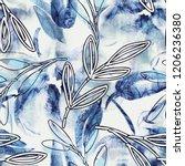floral seamless pattern.... | Shutterstock . vector #1206236380