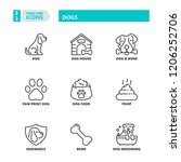 line icons about pets. dogs | Shutterstock .eps vector #1206252706