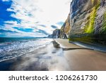 ocean tide at sunrise. north... | Shutterstock . vector #1206261730
