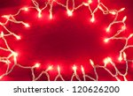 clear lights on a red background | Shutterstock . vector #120626200