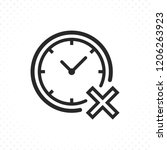 clock with cross icon.... | Shutterstock .eps vector #1206263923