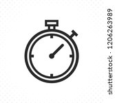 timer line icon. stopwatch icon ... | Shutterstock .eps vector #1206263989
