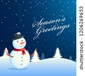 seasons greetings background... | Shutterstock .eps vector #1206269653