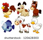 illustration of farm animals... | Shutterstock .eps vector #120628303