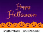 halloween poster with scary... | Shutterstock .eps vector #1206286330