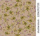 watercolor flowers linen in... | Shutterstock . vector #1206292720