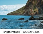 the atlantic ocean tide on the... | Shutterstock . vector #1206293536