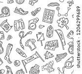 vector seamless pattern... | Shutterstock .eps vector #1206299689