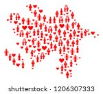collage map of azerbaijan... | Shutterstock .eps vector #1206307333