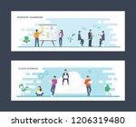 business teamwork and cloud... | Shutterstock .eps vector #1206319480