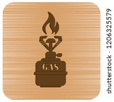 camping stove icon vector.... | Shutterstock .eps vector #1206325579