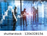 forex trading  financial market ... | Shutterstock . vector #1206328156