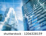 forex trading  financial market ... | Shutterstock . vector #1206328159