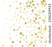 colorful stars confetti ... | Shutterstock .eps vector #1206329923