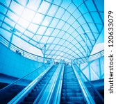 escalator and glass dome under... | Shutterstock . vector #120633079