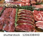 variety of raw meat as a... | Shutterstock . vector #1206338443
