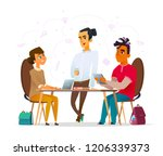 students' characters discuss... | Shutterstock .eps vector #1206339373