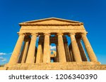 temple of concordia  located in ... | Shutterstock . vector #1206340390