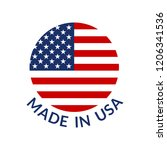 made in usa logo or label.... | Shutterstock . vector #1206341536