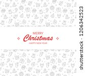 merry christmas and happy new... | Shutterstock .eps vector #1206342523