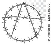symbol of anarchy from barbed... | Shutterstock .eps vector #1206350770