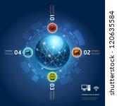 global internet communication... | Shutterstock .eps vector #120635584