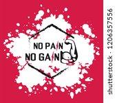 no pain no gain. gym workoun... | Shutterstock .eps vector #1206357556