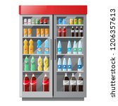 refrigeration showcase with... | Shutterstock .eps vector #1206357613
