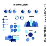 infographic elements  global... | Shutterstock .eps vector #1206364249